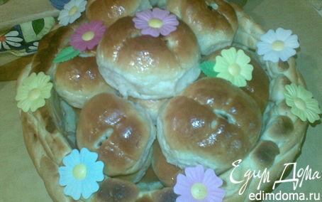 Рецепт Пасхальные булочки в корзинке.