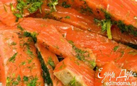 Рецепт – Маринованная семга