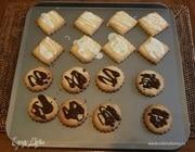 Печенье с шоколадом и лимонной глазурью