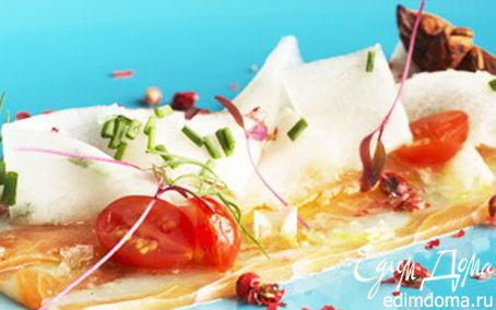 Рецепт Карпаччо из лосося и морских гребешков