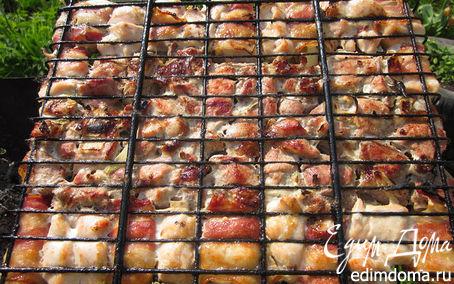 Рецепт Шашлык из свинины и куриных грудок