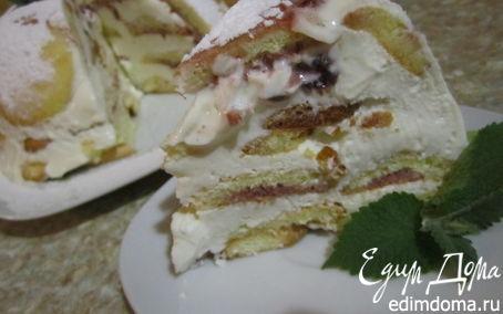 Рецепт Бистрый творожно-сметанный тортик.