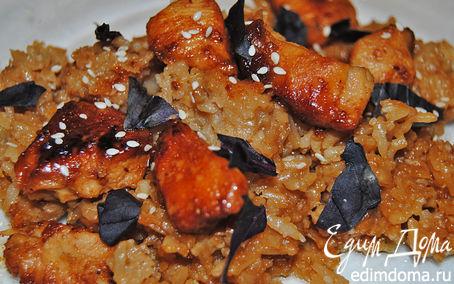 Рецепт Сладкая курица с соленым рисом