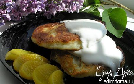Рецепт Воскресные сырники с персиками