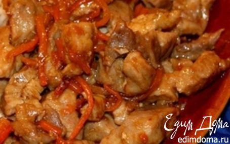 Рецепт Ароматная свинина с соусом терияки