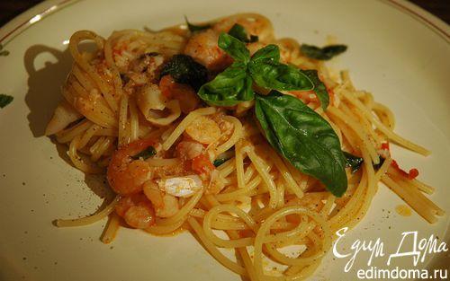 Рецепт Спагетти в рыбном соусе