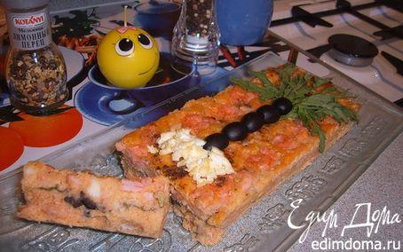 Рецепт Творожно-сырный кексик с креветками «Мечты о море»