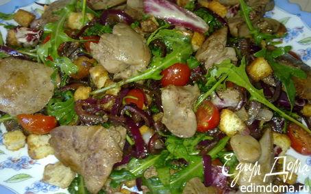 Рецепт Салат с куриной печенью