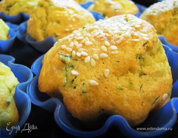 Кексы закусочные с адегейским сыром, травами и кунжутом