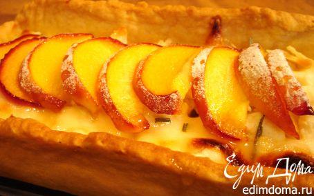 Рецепт Пирог с козьим сыром,моцареллой и нектаринами