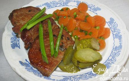 Рецепт Свинина в огуречном маринаде.