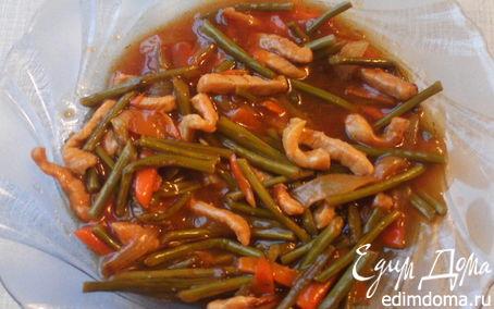 Рецепт Папоротник с мясом в кисло-сладком соусе