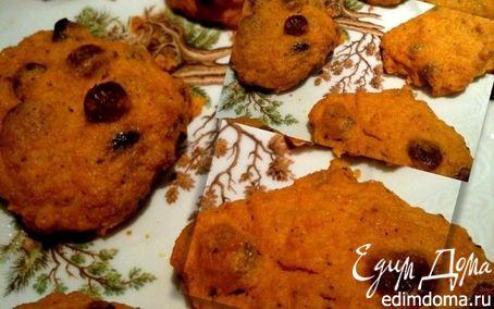 Рецепт Морковно-творожное печенье с корицей и изюмом