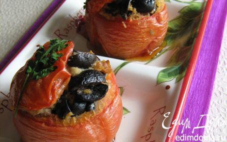 Рецепт Горячая закуска из фаршированных маслинами помидор