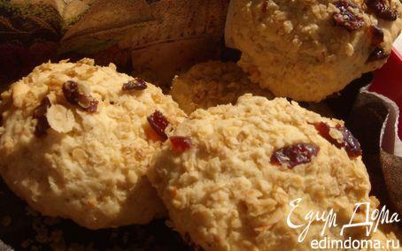 Рецепт Домашнее печенье с клюквой в овсяной панировке