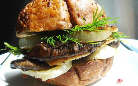 Рецепт Сэндвич с грибами и курицей