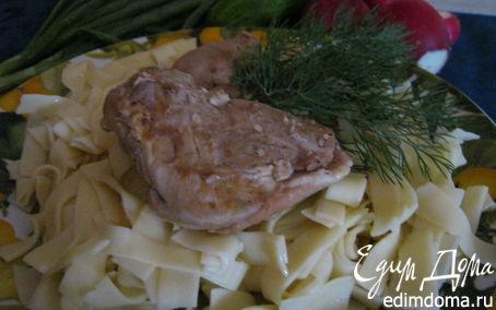 Рецепт Кролик с домашней лапшой.