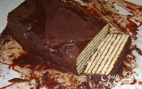 Рецепт Шоколадный тортик из печенья