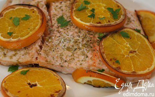Рецепт Семга, запеченная с апельсинами