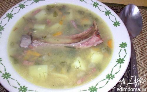 Рецепт Вкус детства - гороховый суп с копченостями