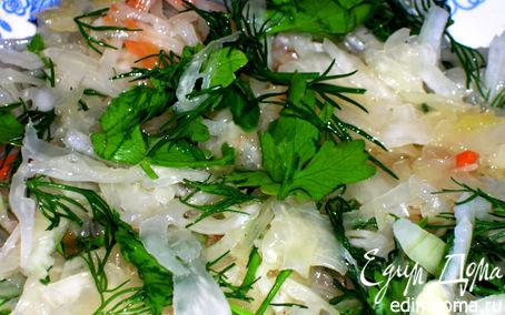 Рецепт Салат из квашенной капусты. (Как в детстве!)