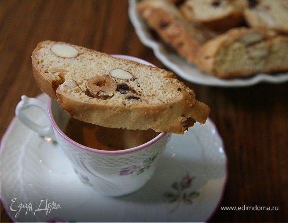 Бискотти с шоколадом и медом