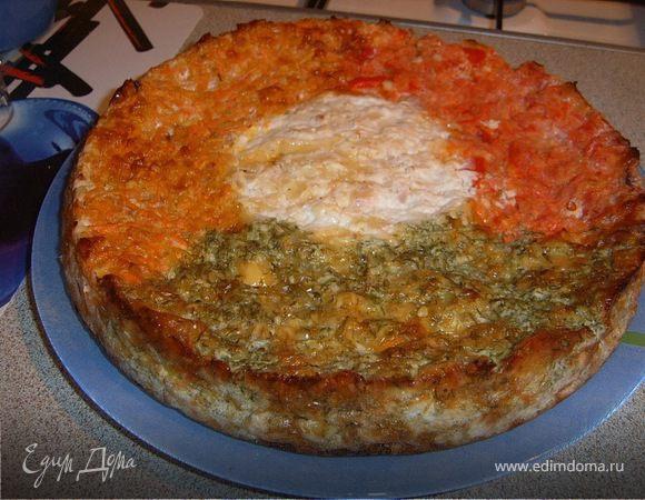 Сырный пирог «Козел в огороде»