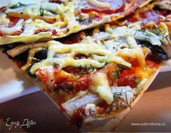 Тончайшая пицца...на лаваше