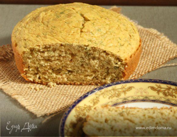 Кукурузный хлеб с мятой и укропом