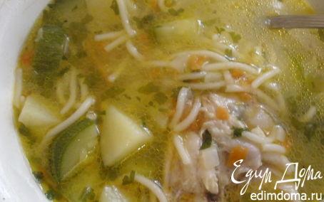 Рецепт Куриный суп с цукини