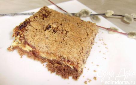 Рецепт Творожный пирог со штрейзелем и айвой