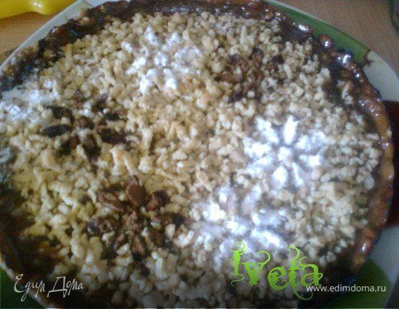 Пирог с ревеневой начинкой.
