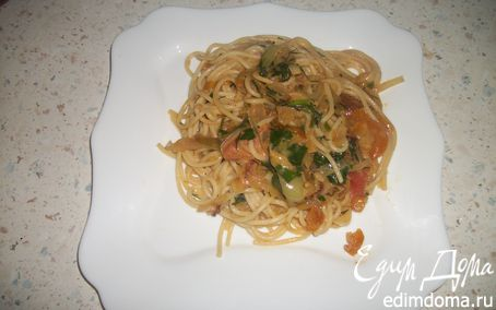 "Рецепт Спагетти ""Лето"" с овощами"