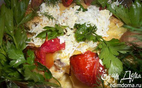 Рецепт Картофельные кораблики(или картошка под шубой)