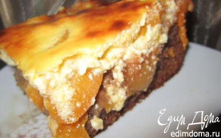 Рецепт Брауни с абрикосами и творожным кремом.