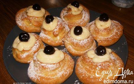 Рецепт Заварное пирожное с кремом Шантийи