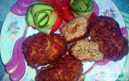 Рецепт Мясные зразы с зеленью, чесноком и сыром