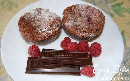 Рецепт Малиновые кексы-брауни