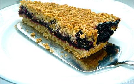 Рецепт Овсяное печенье с черникой и корицей.