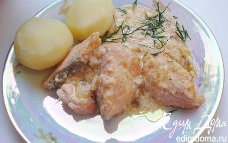 Рецепт Cёмга со сливочно-лимонным соусом