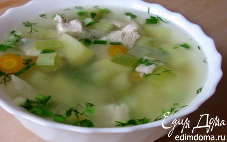 Рецепт Суп с курицей и кабачками