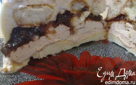 Рецепт Зефирно-творожный мини-тортик