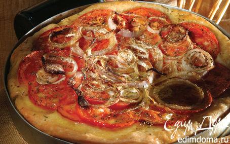 Рецепт Традиционный греческий пирог с томатами и луком «Ладения»