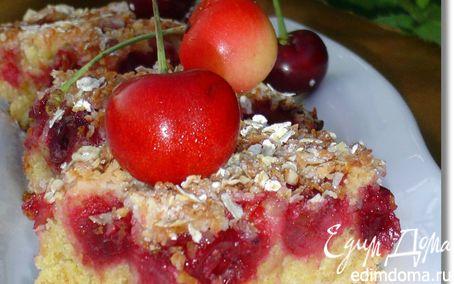 """Рецепт Вишневый пирог с овсяными хлопьями """"Nordic"""""""