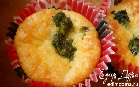 Рецепт мини-запеканки из поленты с брокколи