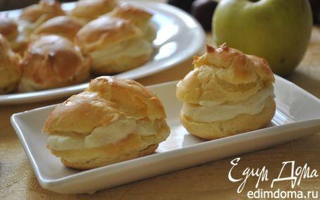 Рецепт Швейцарские заварные пирожные с яблочным кремом