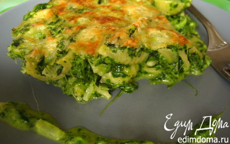 Рецепт Пирог из пенне с шпинатом и рикоттой
