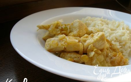 Рецепт Курица с абрикосами и чечевицей