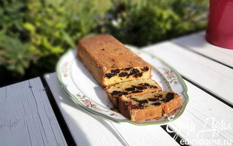 Рецепт Миндальный кекс с черносливом и шоколадом