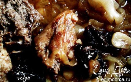 Рецепт Курица с черносливом и изюмом